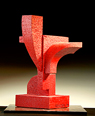 Red October Abstract Sculpture